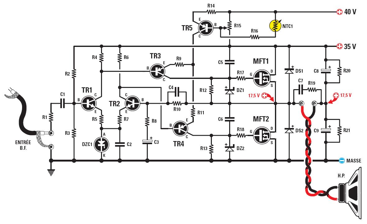 803 Audio Power Amplifiers Schematic Diagram