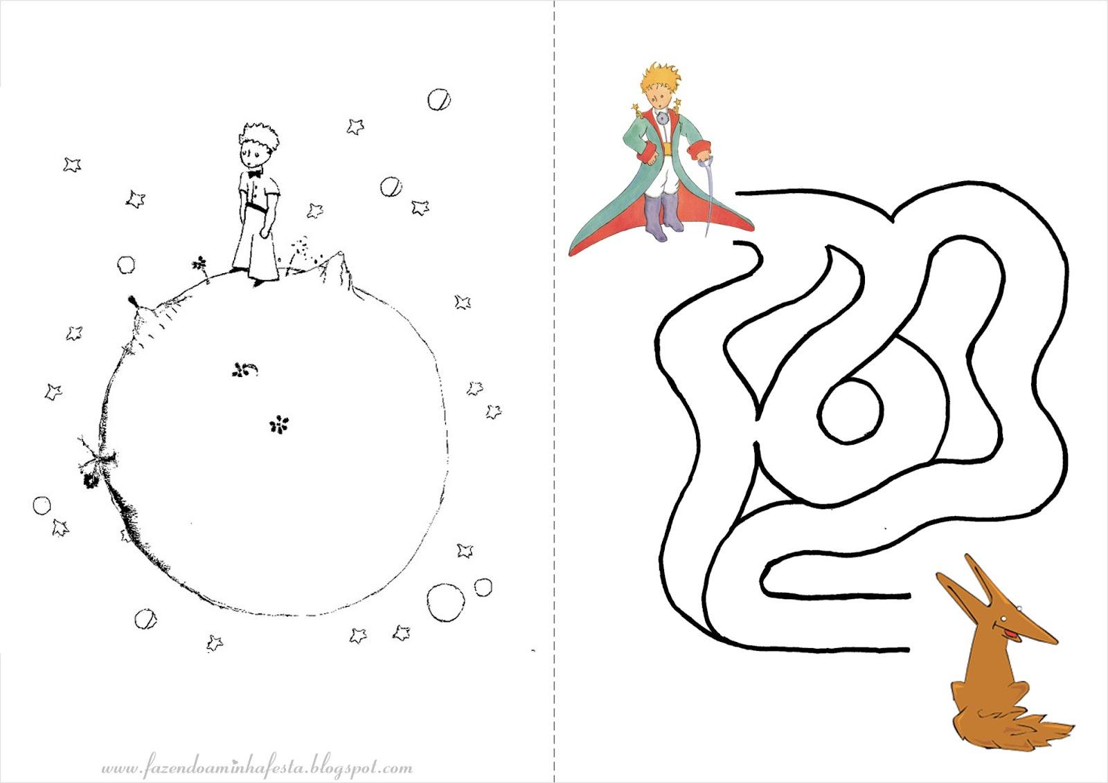 Desenhos Para Colorir Principe: Fazendo A Minha Festa Para Colorir: Pequeno Príncipe