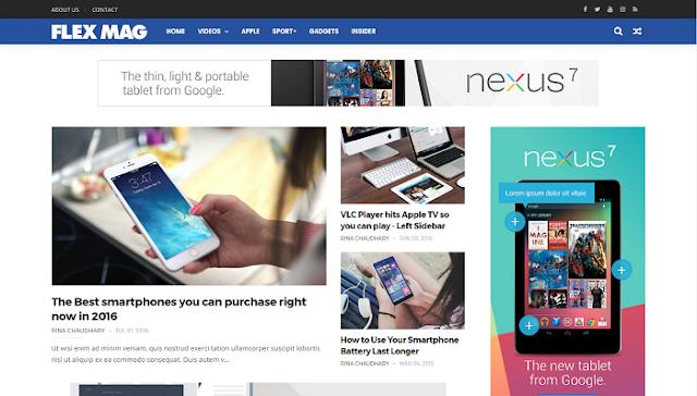 Flex Mag Blogger Teması