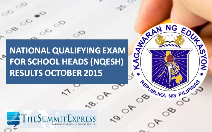 2015 NQESH Principals' Test results