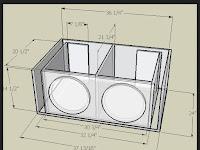 """Skema Box 12"""" Subwoofer double speaker"""