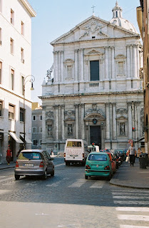 The Basilica of Sant'Andrea della Valle is opposite Palazzo Valle.
