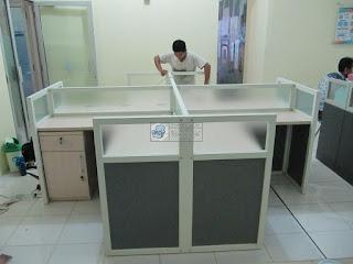 Meja Partisi Kantor - Cubucle Workstation - Furniture Kantor