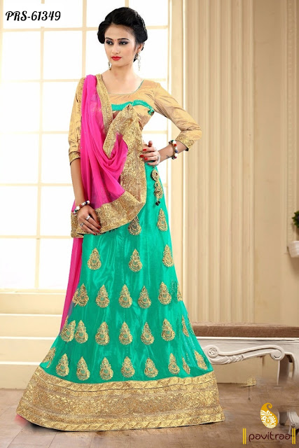 Indian women wear for wedding party occasion chiffon lehenga choli style in cheap cost at pavitraa.in