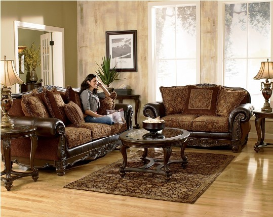 Ashley furniture north shore living room set furniture for Sitting room furniture