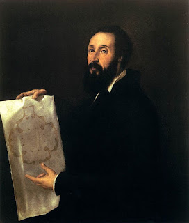 Titian's portrait of Giulio Romano, painted  between 1536 and 1540