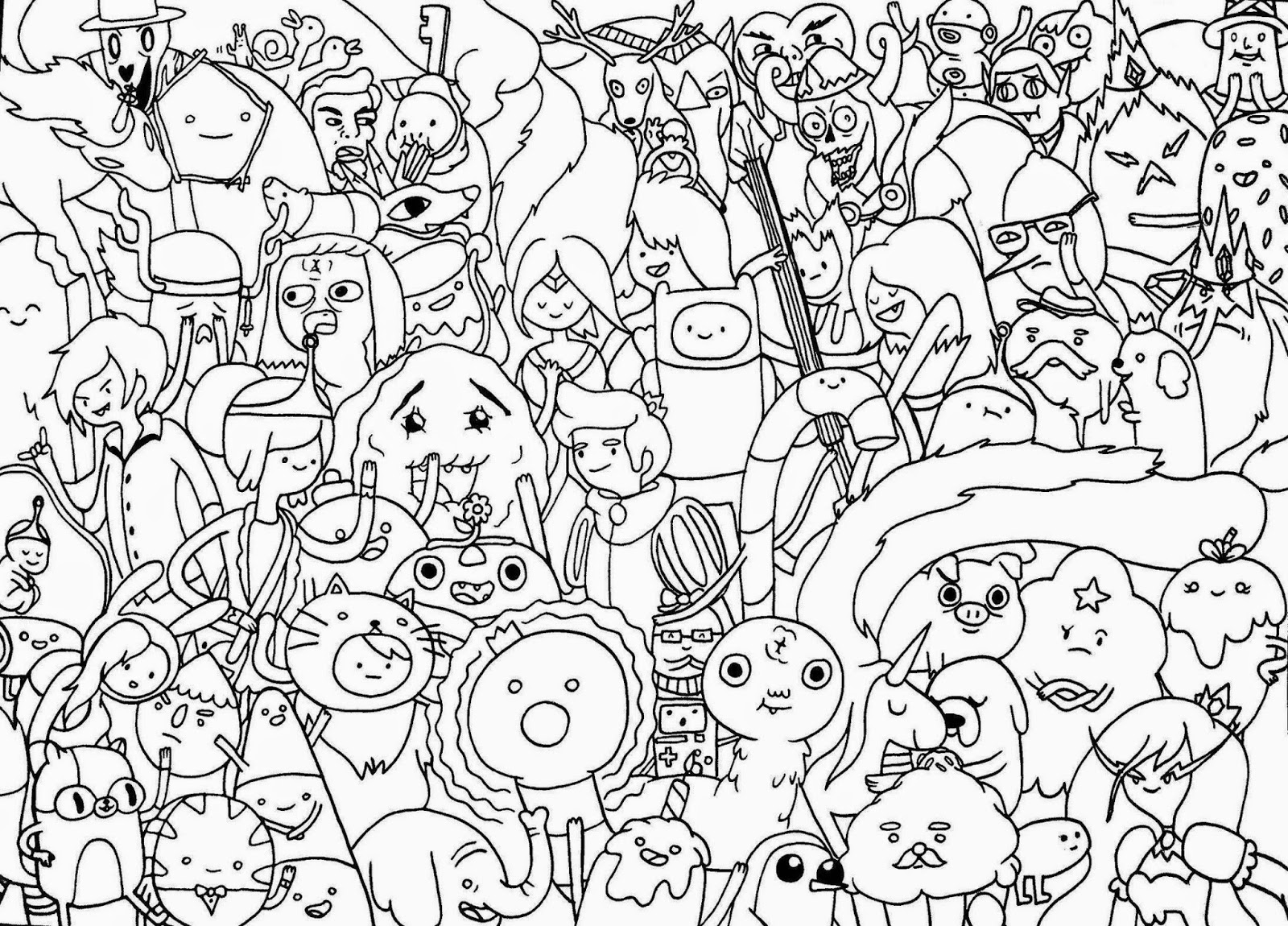 coloring pages of adventure time - photo#29