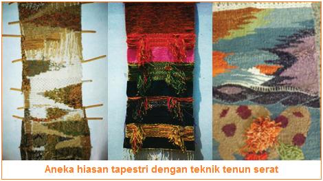 Aneka hiasan tapestri dengan teknik tenun serat