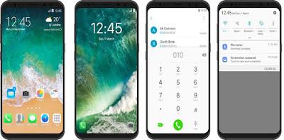 Free Download Tema iPhone ( iOS 11 ) untuk Semua Type Samsung