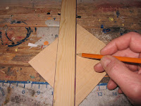 Marking the diagonals from corner to corner