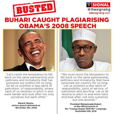 BUHARI SACKS DIRECTOR WHO COPIED OBAMA'S SPEECH FOR PRESIDENT BUHARI