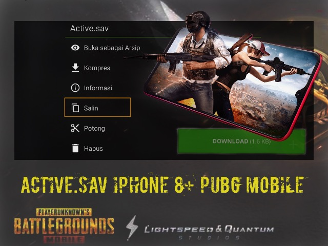 diwnload active.sav pubg mobile iphone 8+