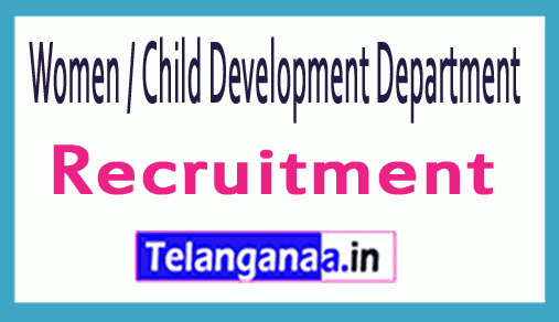 WCDD Women And Child Development Department Recruitment Notification