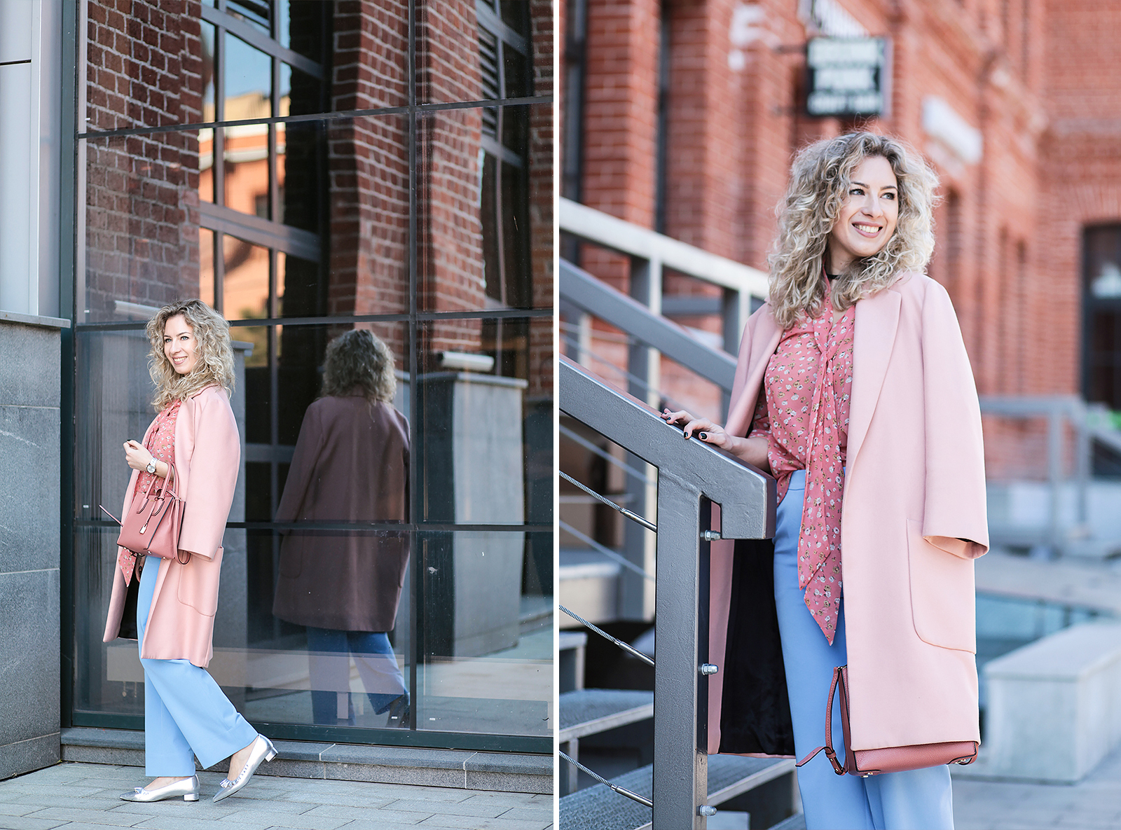 Rita_maslova_ritalifestyle_moscow_fashion_blogger_blue_pants_pink_coat_silver_shoes