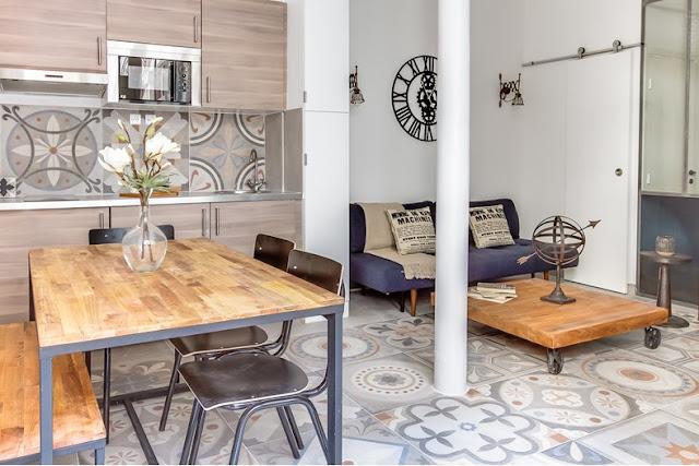 Amenajare retro-șic într-un apartament de 48 m², cu 3 camere din Paris