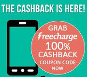 100% cashback on recharge with FreeCharge offers