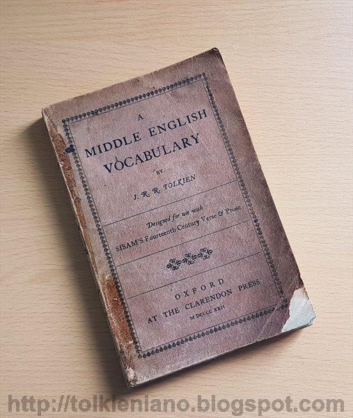 Il primo libro di Tolkien, A Middle English Vocabulary 1922