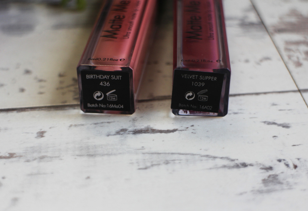 Sleek Matte Me Ultra Smooth Matte Lip Creams in Birthday Suit & Velvet Slipper
