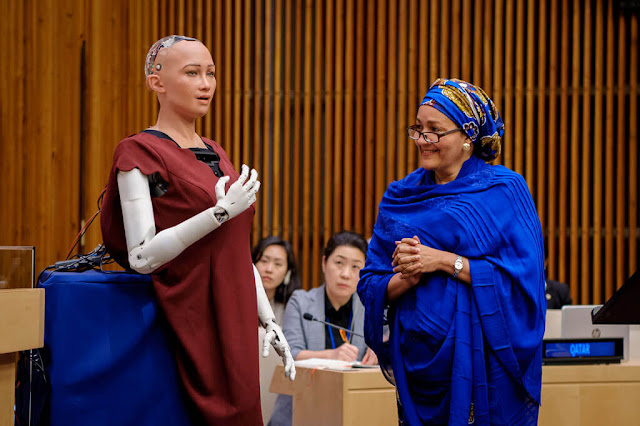 sophia robot united nations