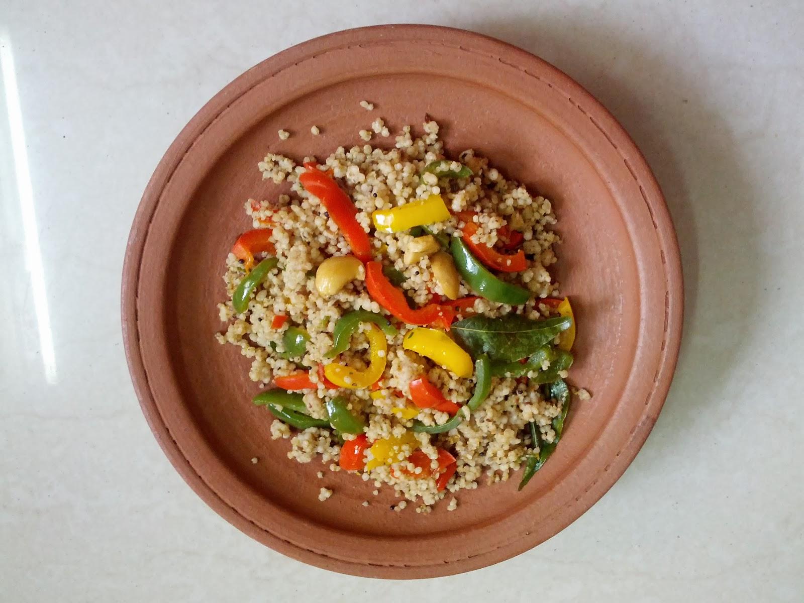 Kodo millet Capsicum rice