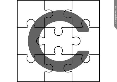English alphabet jigsaw puzzle