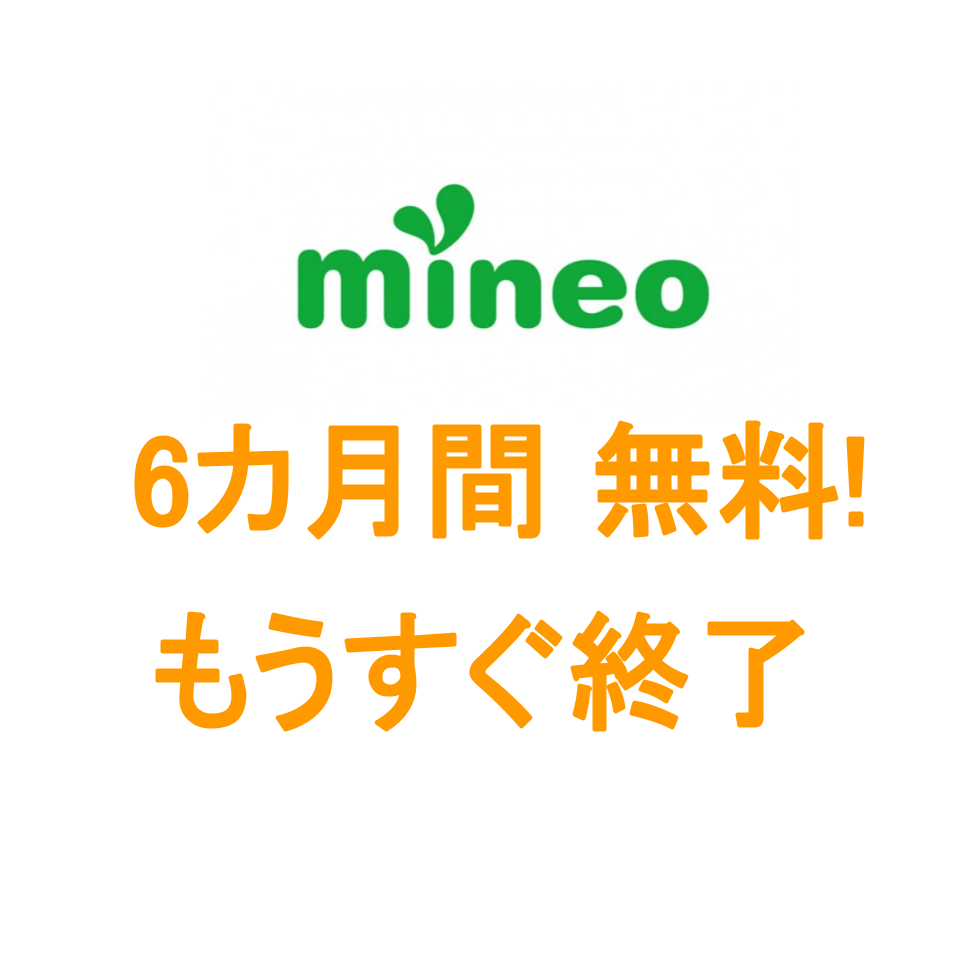 mineo ソフトバンク回線 6カ月0円キャンペーン終了間近