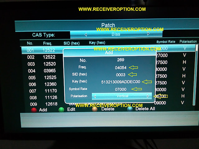 STARTRECK MAGIC 9990 SR HD RECEIVER BISS KEY OPTION