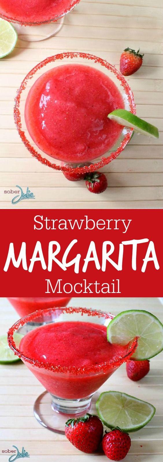 STRAWBERRY MARGARITA MOCKTAIL