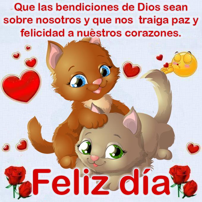 Que las bendiciones de Dios sean sobre nosotros y que nos traiga paz y felicidad a nuestros corazones. Feliz día