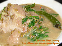 Ginisang Munggo with Pork Pata, Mung Beans with Pork Leg