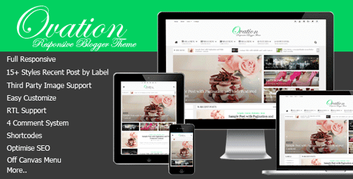 News/Magazine Responsive Blogger Theme Ovation