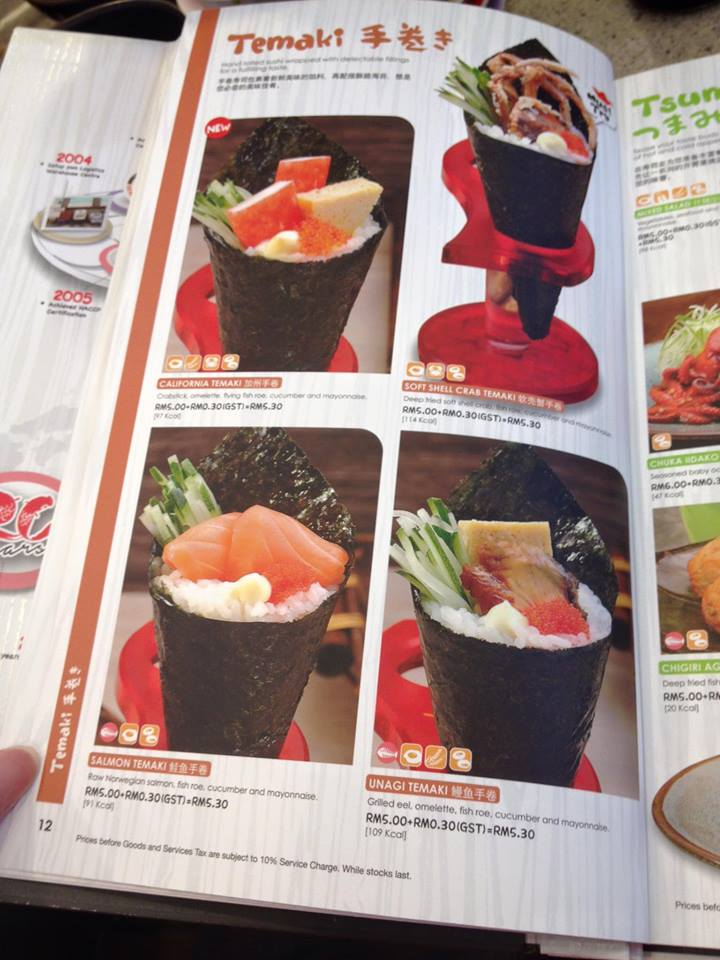 Sushi King Online Menu Price And Details Miri Food Sharing