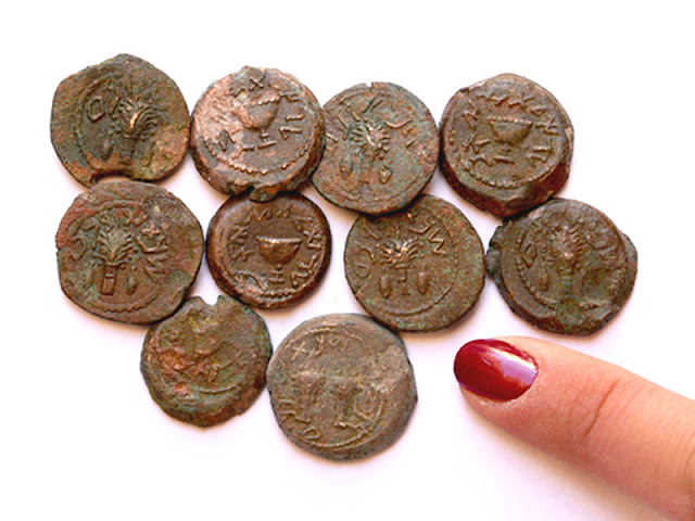 Freedom Coins dating to the Jewish Revolt against Rome discovered in cave near Temple Mount