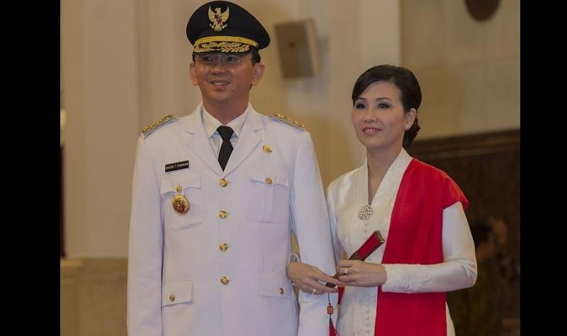 Ahok dan istrinya, Veronica Tan