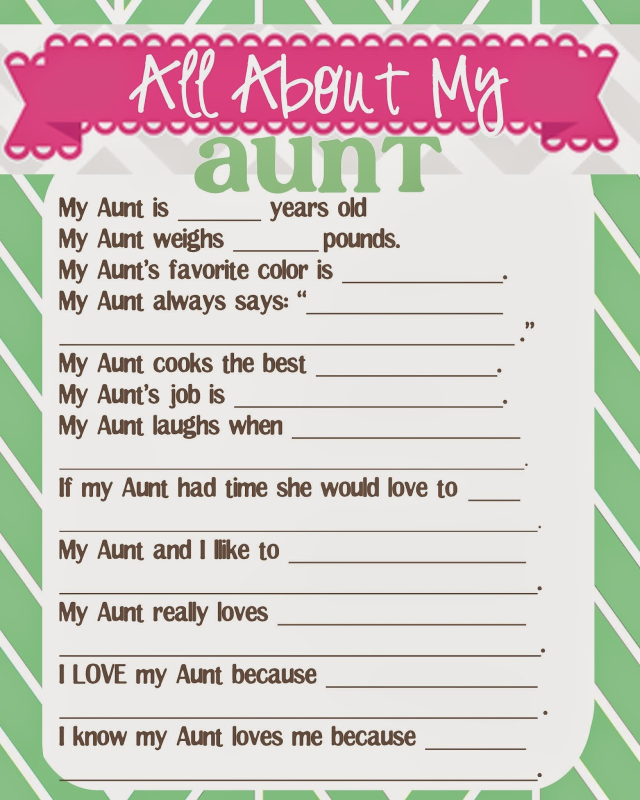 This is a photo of Massif Free Printable Mother's Day Questionnaire