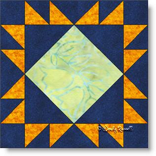 King's Crown quilt block image © Wendy Russell
