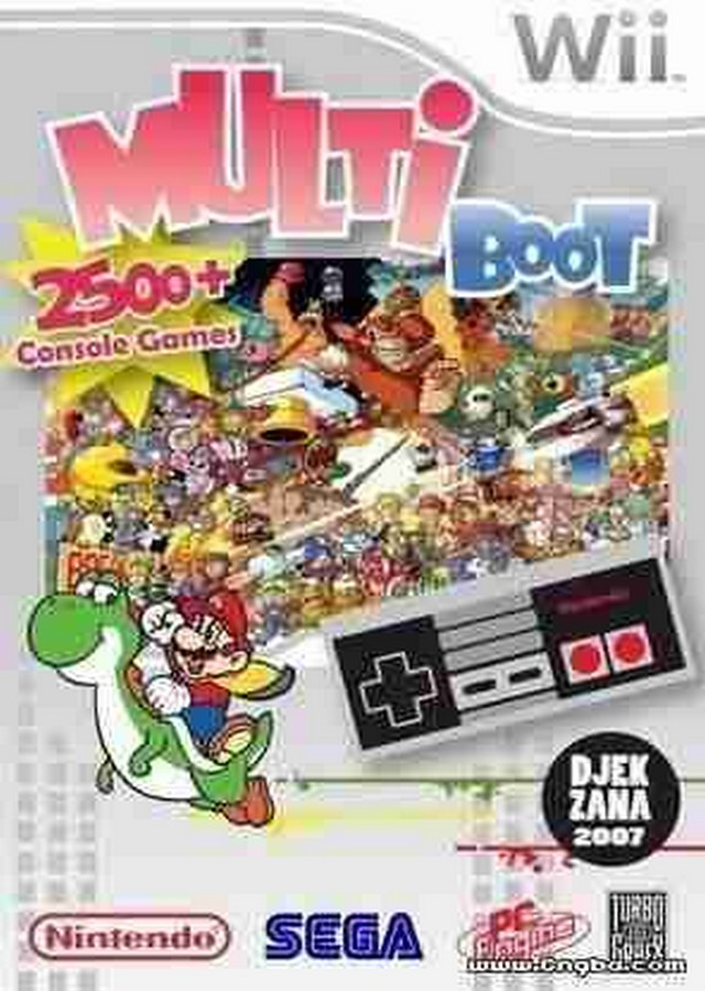 Wii Multi-Boot Rom Pack ISO-NES SNES SMS SMD PCE (NTSC) [Jap