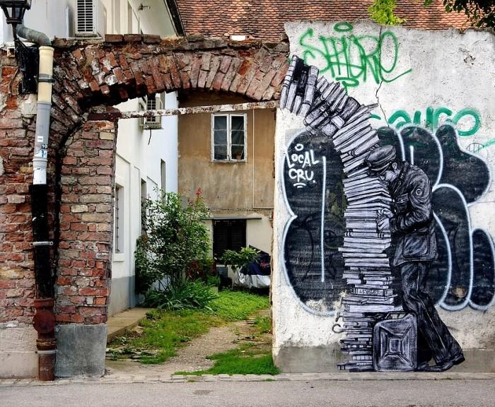 Уличный художник. Charles Leval