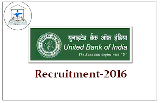 United Bank of India Recruitment 2016-Fresher's Can Apply