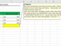 Belajar Fungsi SUMPRODUCT di Excel