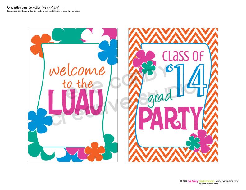 welcome to the luau sign, grad party sign, chevron, luau party, graduation