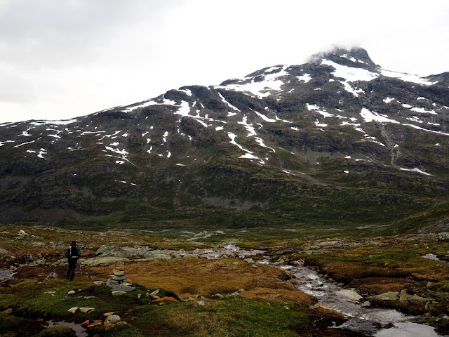 Hledáme místo na stan, Jotunheimen, Norsko, příroda
