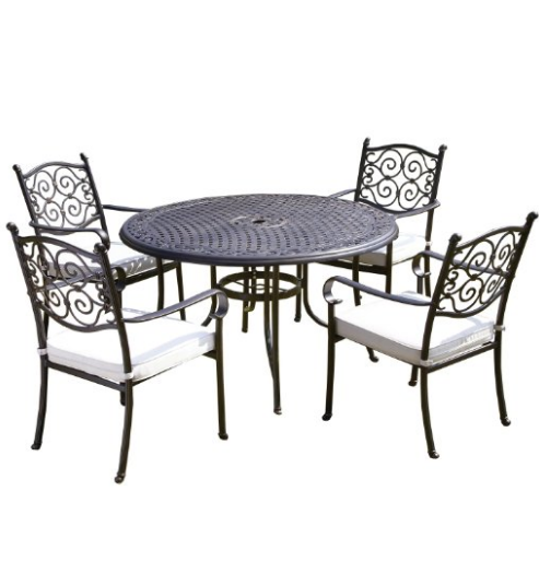 Royalcraft Versailles 4 Seater Round Cast aluminium Set including cushions