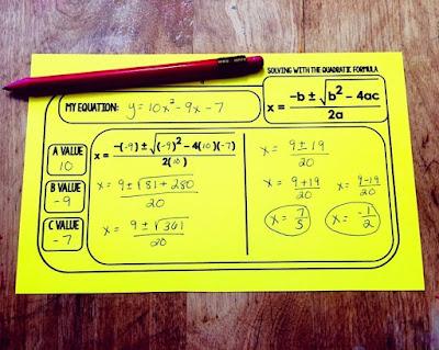 Free Quadratic Formula Template