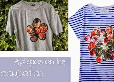 Apliques en las Camisetas.Tunear y Personalizar Camisetas
