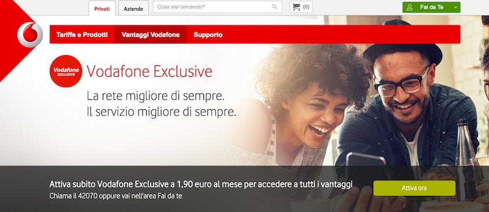 Come disattivare Vodafone Exclusive