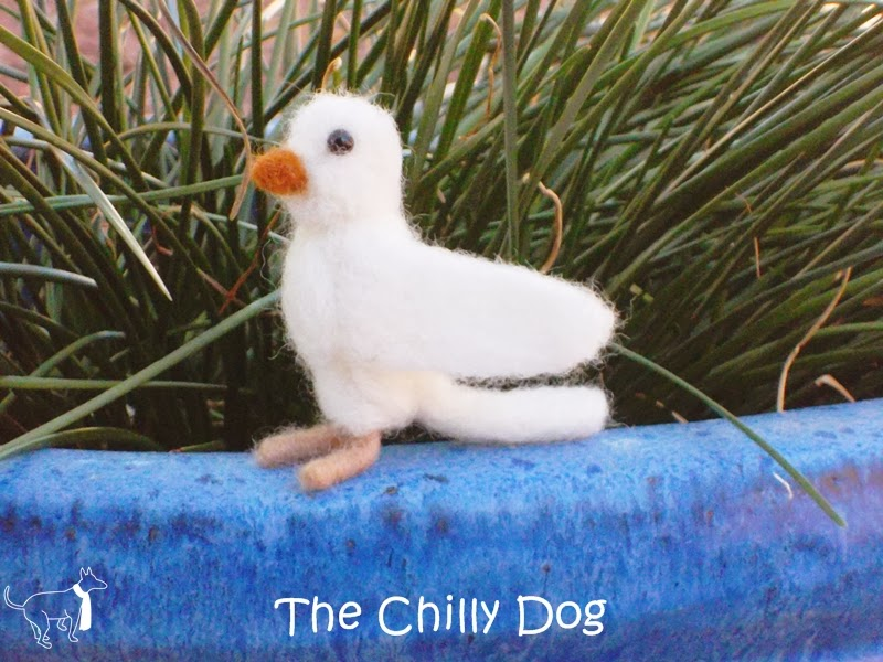 Felted White Bird - Book Review of Little Felted Animals: Create 16 Irresistible Creatures with Simple Needle-Felting Techniques