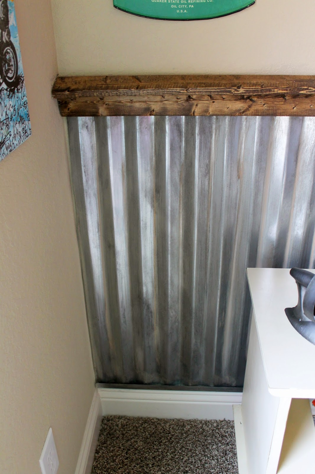 How To Install A Corrugated Metal Accent Wall: The Ragged Wren : Hot Rod Bedroom