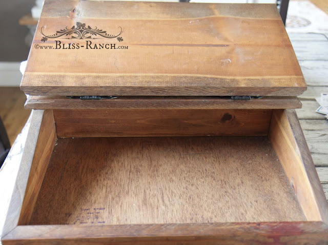 Vintage Wood Table Top Lap Desk, Bliss-Ranch.com