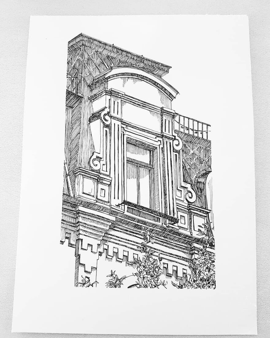 12-Window-Detail-Natali-M-Drawings-of-Buildings-with-Architectural-Details-www-designstack-co